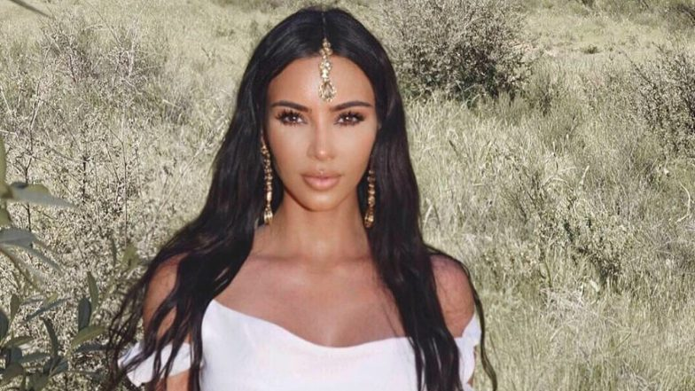 Kim Kardashian Faces Criticism For Wearing Traditional Indian Maang Tika and  a Jewellery Piece to Church