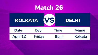 KKR vs DC, IPL 2019 Match 26 Preview: Spotlight on Sourav Ganguly As Kolkata Knight Riders Host Delhi Capitals at Eden Gardens