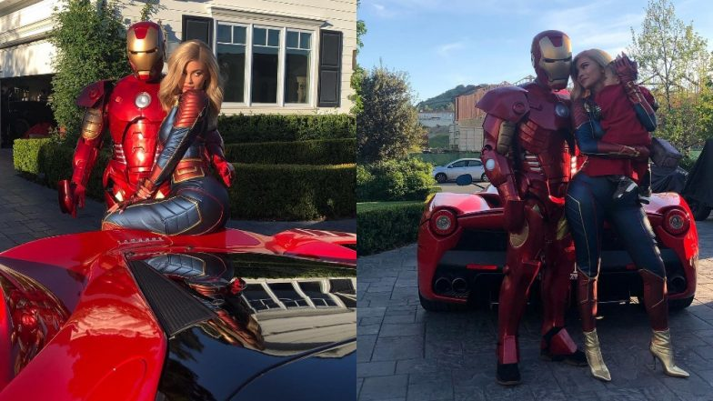 Kylie Jenner goes low-key as she and beau Travis Scott exit his Avengers: Endgame themed birthday