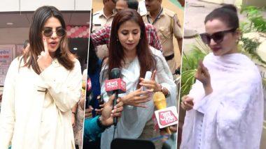 Lok Sabha Elections 2019: Priyanka Chopra Jonas, Urmila Matondkar, Rekha Casts Vote in Mumbai During Phase 4 of Polling (See Pics)