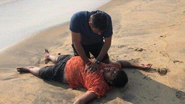 Naval Officer Lt Rahul Dalal Saves Drowning Man at Kerala's Vypin Beach, Wins Hearts on Twitter