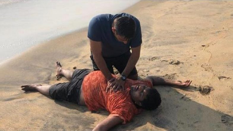 Naval Officer Lt Rahul Dalal Saves Drowning Man at Kerala's Vypin Beach, Wins Hearts on Twitter