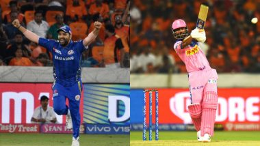 MI vs RR, Head-to-Head Record: Ahead of IPL 2019 Clash, Here Are Match Results of Last 5 Mumbai Indians vs Rajasthan Royals Encounters!