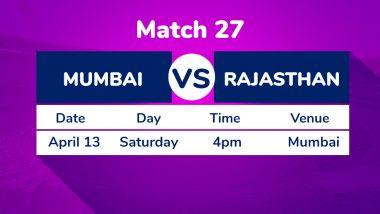 MI vs RR, IPL 2019 Match 27 Preview: Confident Mumbai Indians to Host Lacklustre Rajasthan Royals