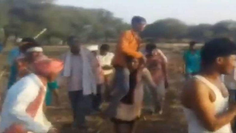 Madhya Pradesh Woman Forced to Carry Husband As 'Punishment' by Jhabua Villagers for Alleged Affair With Man Outside Her Caste; Watch Video