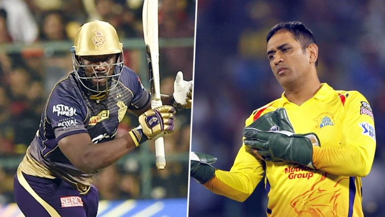 Ahead of CSK vs KKR, VIVO IPL 2019 Match, Chennai Skipper MS Dhoni Says 'Andre Russell Sixes Gives Him a Nightmare' (Watch Video)