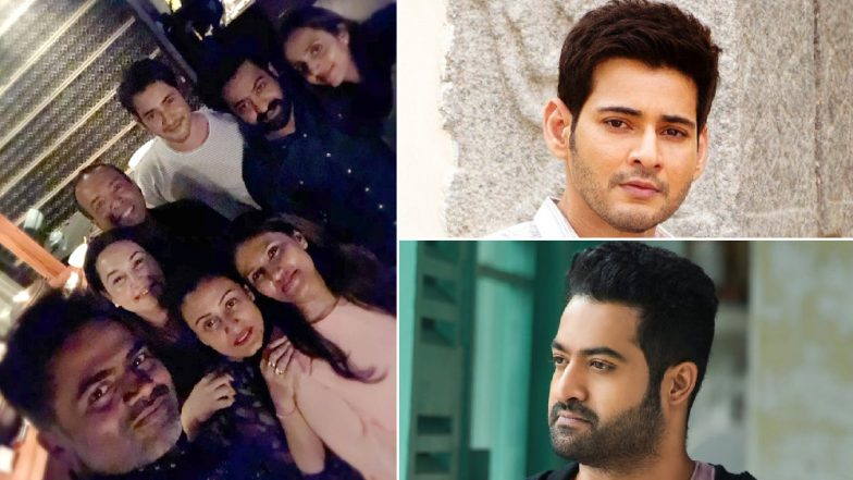 Mahesh Babu and Jr NTR Come Together for a Party, Fans Delighted to See Tollywood Stars in One Frame (View Pic)