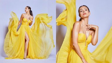 Malaika Arora Looks Hotter Than The Tropics In A Bright Yellow Pleated Gown - View Pics