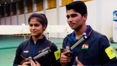 ISSF World Cup 2019: Manu Bhaker, Saurabh Chaudhary Clinch Gold In 10m Air Pistol Mixed Team Event; Beat Jiang Ranxin, Pang Wei of China in the Final
