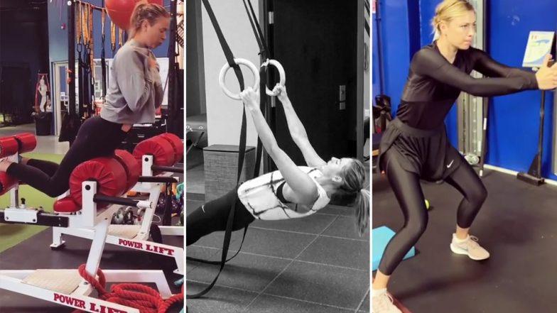 Maria Sharapova's Birthday Special: 5 Times When Russian Tennis Star Gave Us Major Fitness Goals! Watch Instagram Videos