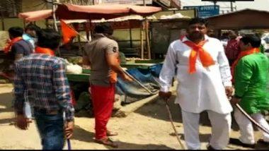 Gurugram: Fringe Group Members Brandishing Sword Threaten Meat Shop Owners to Stop Operations During Navratri