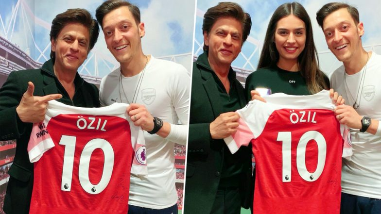 Shah Rukh Khan Appreciates the Hospitality of Arsenal Star Mesut Ozil and His Fiance Amine Gulse: Shares Picture With Them on Social Media