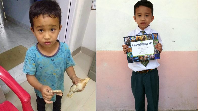 PETA India Awards Mizoram Boy Who Mistakenly Ran Cycle Over Chicken and Rushed It to Hospital With 'Compassionate Kid' Award (See Pictures)