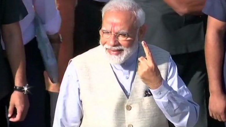 Lok Sabha Elections 2019 Phase 3 Polling: PM Narendra Modi Casts His Vote in Ahmedabad