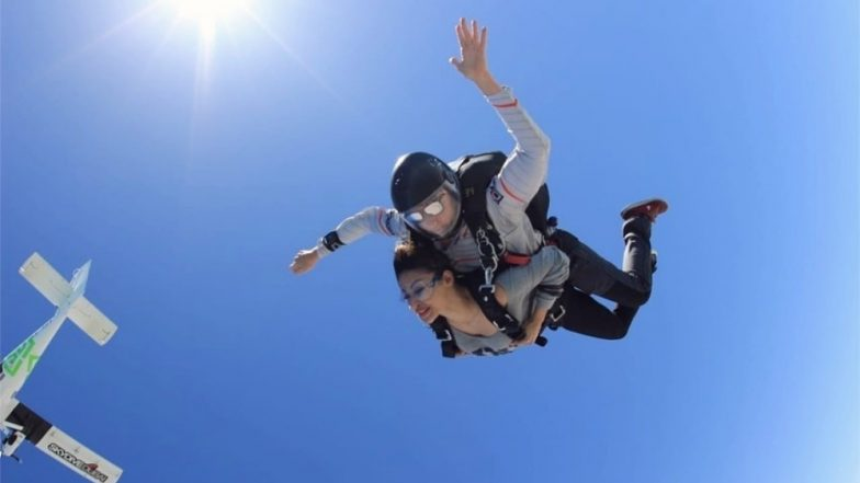 Mouni Roy's Skydiving Pictures Above Dubai's Palm Jumeirah is Every Adrenaline Junkie's Dream!-View Pics