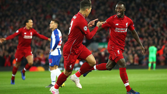 Champions League 2018-19: Naby Keita and Roberto Firmino Help Liverpool Secure 2-0 Victory Over Porto