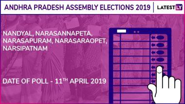 Nandyal, Narasannapeta, Narasapuram, Narasaraopet, Narsipatnam Assembly Elections 2019: Candidates, Poll Dates, Results of Andhra Pradesh Vidhan Sabha Seats