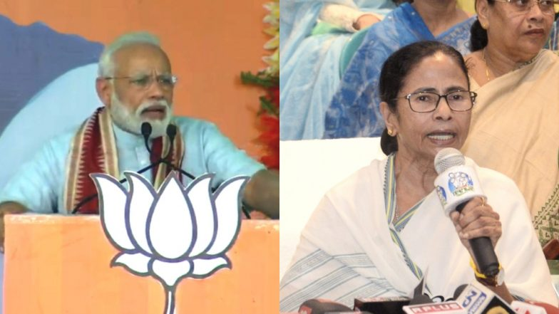 Mamata Banerjee Reacts on 'Democracy Slap to PM Narendra Modi' Remark, Mocks On His '56-Inch' Chest