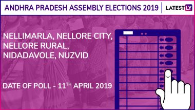Nellimarla, Nellore City, Nellore Rural, Nidadavole, Nuzvid Assembly Elections 2019: Candidates, Poll Dates, Results of Andhra Pradesh Vidhan Sabha Seats