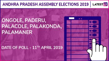 Ongole, Paderu, Palacole, Palakonda, Palamaner Assembly Elections 2019: Candidates, Poll Dates, Results of Andhra Pradesh Vidhan Sabha Seats