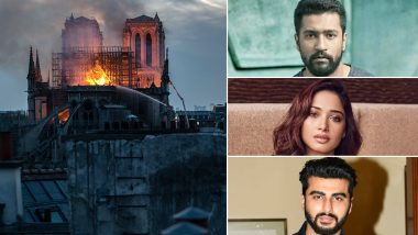 Paris' Notre Dame Cathedral Fire: Vicky Kaushal, Tamannaah Bhatia, Arjun Kapoor and Others Voice Their Heartache As the Iconic Structure Gets Destroyed in Flames