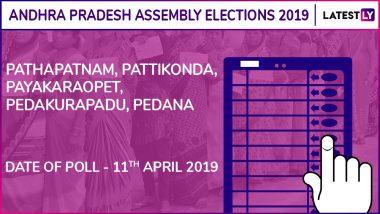 Pathapatnam, Pattikonda, Payakaraopet, Pedakurapadu, Pedana Assembly Elections 2019: Candidates, Poll Dates, Results of Andhra Pradesh Vidhan Sabha Seats