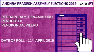 Peddapuram, Penamaluru, Pendurthi, Penukonda, Pileru Assembly Elections 2019: Candidates, Poll Dates, Results of Andhra Pradesh Vidhan Sabha Seats