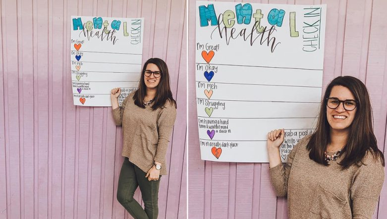 World Health Day 2019: Californian Counseling Teacher Encourages Students to Talk on Mental Health With This 'Viral' Board