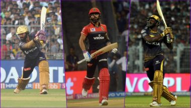 KKR vs RCB, PL 2019 Match 35, Key Players: Dinesh Karthik to Virat Kohli to Andre Russell, These Cricketers Are to Watch Out for at Eden Gardens