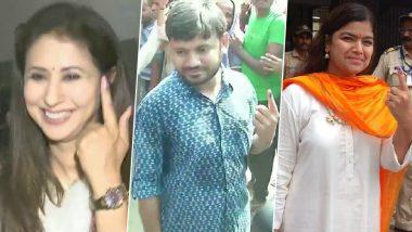 Lok Sabha Elections 2019: Poonam Mahajan, Kanhaiya Kumar, Urmila Matondkar and Other Candidates Cast Their Vote in Phase 4 Polling, See Pics