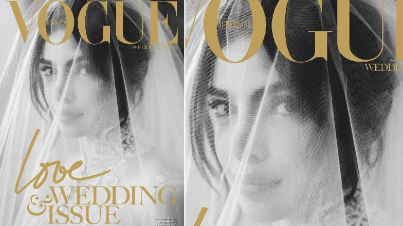 Priyanka Chopra Jonas' Black-and-White Pic on Vogue Love & Wedding Issue Is Breathtakingly Beautiful