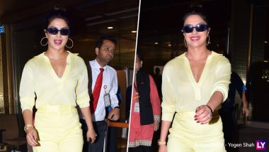 Priyanka Chopra Looks Like a Ray of Sunshine as She Arrives at Mumbai Airport But Where is Nick Jonas?