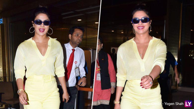 Priyanka Chopra Looks Like a Ray of Sunshine as She Arrives at Mumbai Airport But Where is Nick Jonas?