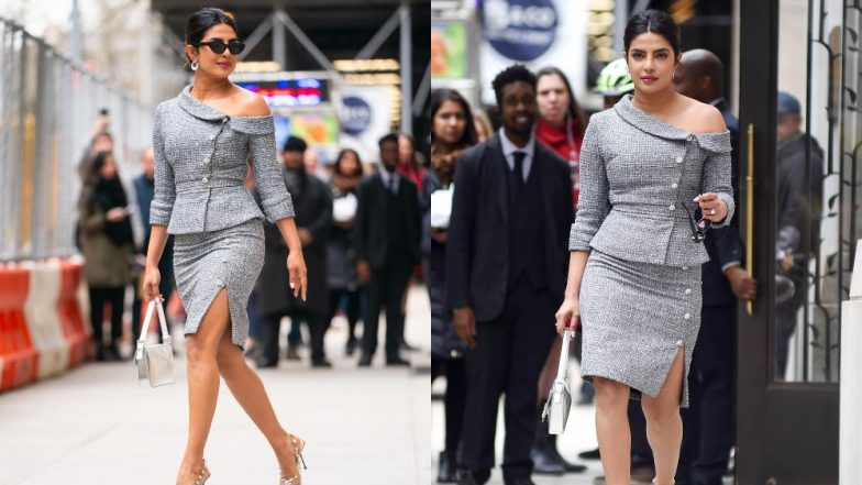 Priyanka Chopra's Grey Ralph And Russo Power Dress For Women in the World Summit Makes Her Look Drop Dead Gorgeous