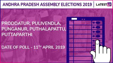 Proddatur, Pulivendla, Punganur, Puthalapattu, Puttaparthi Assembly Elections 2019 Results: Candidates, Names of Winning MLAs of Andhra Pradesh Vidhan Sabha Seats
