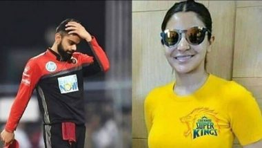 New RCB Meme Shows Anushka Sharma Wearing Chennai Super Kings Jersey and an Upset Virat Kohli! View Pics