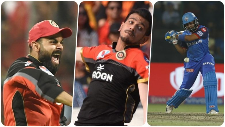 RCB vs DC, IPL 2019 Match 20, Key Players: Virat Kohli to Yuzvendra Chahal to Rishabh Pant, These Cricketers Are to Watch Out for at M Chinnaswamy Stadium