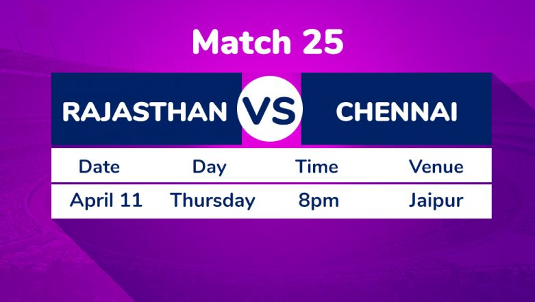 RR vs CSK, IPL 2019 Match 25 Preview: Rajasthan Royals Face Litmus Test Against Chennai Super Kings