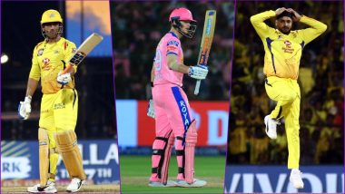 RR vs CSK, IPL 2019 Match 25, Key Players: MS Dhoni to Steve Smith to Harbhajan Singh, These Cricketers Are to Watch Out for at Sawai Mansingh Stadium