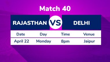 RR vs DC, IPL 2019 Match 40 Preview: Rajasthan Royals Aim to Retain Winning Momentum Against Delhi Capitals