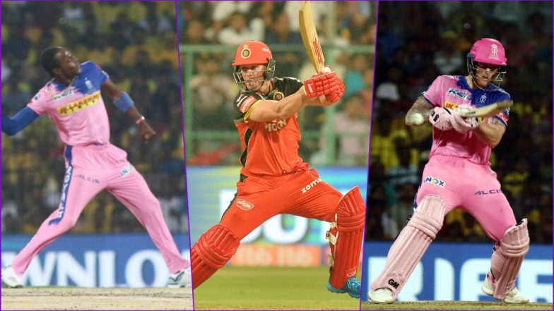 RR vs RCB IPL 2019 Match 14, Key Players: Jofra Archer to AB de Villiers to Sanju Samson, These Cricketers Are to Watch Out for at Sawai Mansingh Stadium