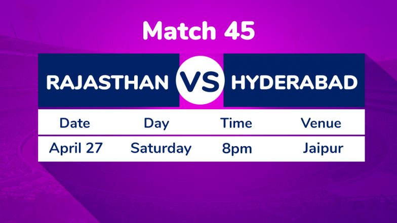 RR vs SRH, IPL 2019 Match 45 Preview: Rajasthan Royals Aim to Continue Wining Momentum Against Sunrisers Hyderabad