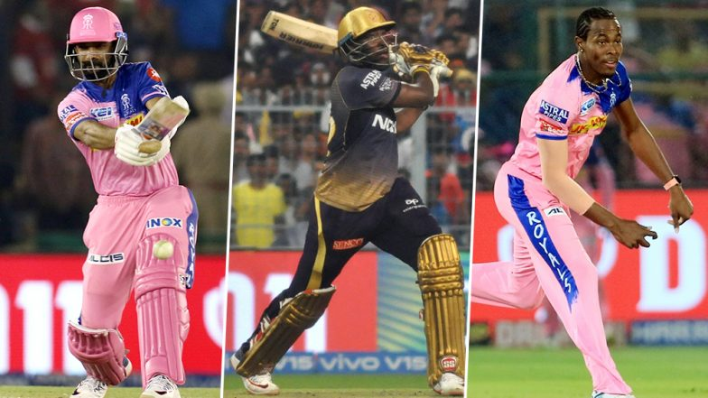 KKR vs RR, IPL 2019 Match 43, Key Players: Ajinkya Rahane, Andre Russell, Jofra Archer and Other Cricketers to Watch Out for at Eden Garden Stadium