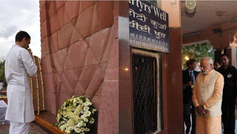 Jallianwala Bagh Massacre Centenary: PM Narendra Modi, Rahul Gandhi Pay Tributes to Martyrs