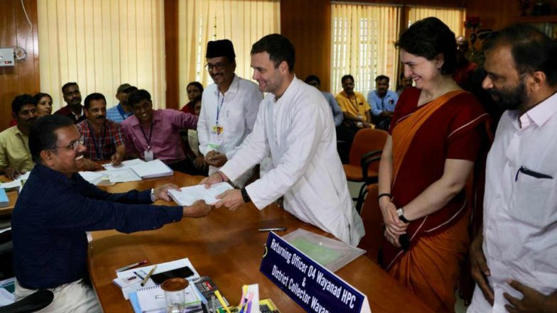 Rahul Gandhi's Wayanad Candidature Challenged Ahead of Phase 3 Lok Sabha Elections; NDA's T Vellappally Writes to EC, Seeks Review