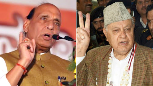 Article 370 Row: Rajnath Singh Faces Off With Farooq Abdullah, Says 'No Option But to Abolish Article 370 & 35A'