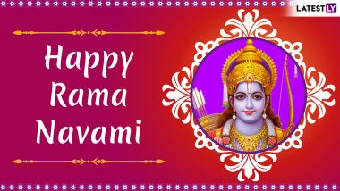 Happy Rama Navami 2019 Greetings & Tamil Messages: Best WhatsApp Stickers, Shree Ram GIF Images, Facebook Photos to Wish on Rama Jayanthi