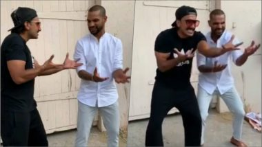 Delhi Capitals' Shikhar Dhawan and Ranveer Singh Recreate Padmaavat's 'Khalibali' Hook Step! Watch Video