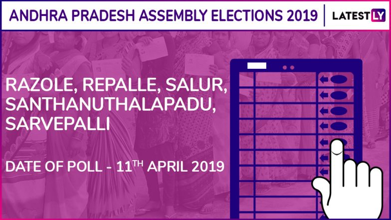 Razole, Repalle, Salur, Santhanuthalapadu, Sarvepalli Assembly Elections 2019 Results: Candidates, Names of Winning MLAs of Andhra Pradesh Vidhan Sabha Seats