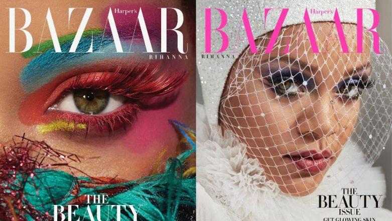 Rihanna Wears Bold Makeup And Flaunts Flawless Skin On The Beauty Issue of Harper's Bazaar Magazine - View Pics
